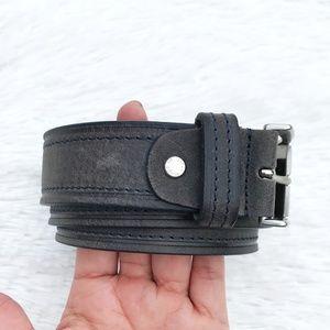 VERA PELLE Women's Gray Belt
